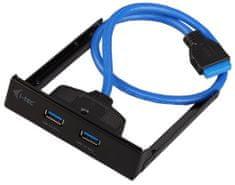 I-TEC USB rozbočovač (2x USB-A 3.0), černá
