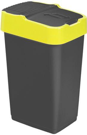 Heidrun Kosz na śmieci 18 l, czarny/żółty