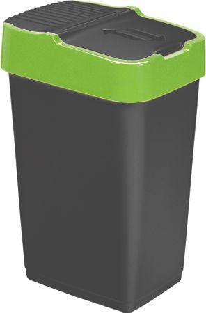 Heidrun koš za smeti, 60 l, črn/zelen - Odprta embalaža