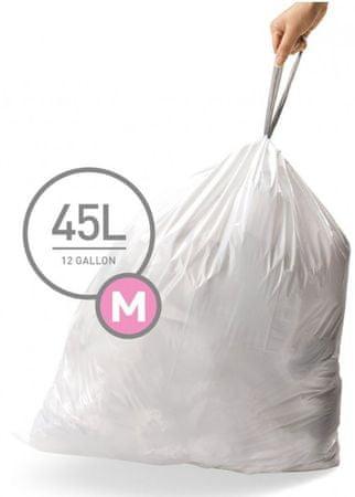 Simplehuman vreče za smeti 45 l, tipa M, 5 x 20 kosov
