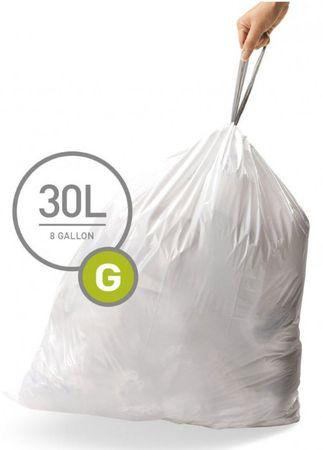 Simplehuman vreče za smeti tipa G (30 l), 100 kosov