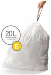 Simplehuman vreće za smeće tipa E (20 l), 60 komada
