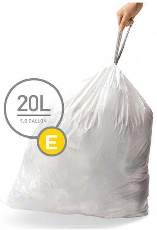 Simplehuman vreče za smeti tipa D (20 l), 60 kosov