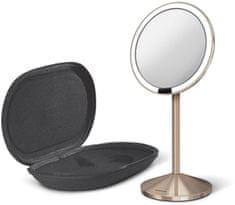 Simplehuman putno ogledalo s Tru-lux LED osvjetljenjem, 10x povećanje, rosegold