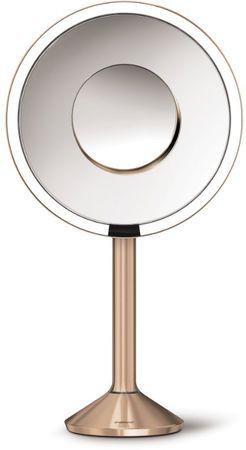Simplehuman Senzorično kozmetično ogledalo s PRO Tru-lux LED osvetlitvijo, 5/10x, rosegold