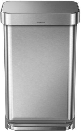 Simplehuman Pedálos szemeteskosár 45 l, ezüst