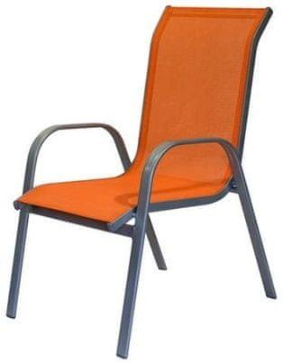 Happy Green krzesło ogrodowe, pomarańczowe