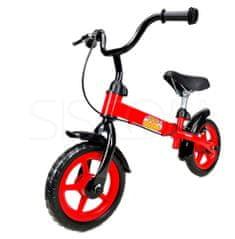 """Baby Maxi Rowerek biegowy metalowy czerwono- czarny 10"""" 380 - Allegro"""