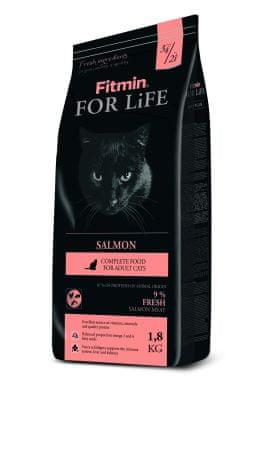 Fitmin Karma dla dorosłych kotów For Life Salmon 1,8 kg