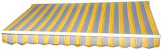 MAKERS markiza Padova 4x2,5m sterowana ręcznie SPD025, żółto-szara