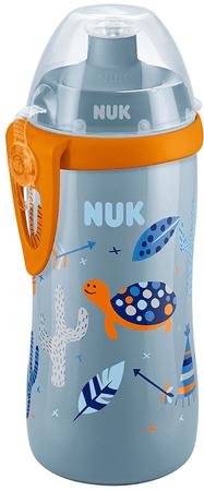 Nuk FC Fľaša PP Junior Cup 300ml, push-pull pítko modrá