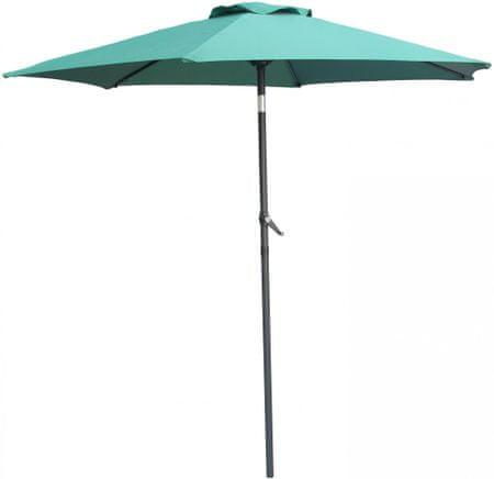 MAKERS parasol ogrodowy Monaco, prosty 2,3 m, zielony