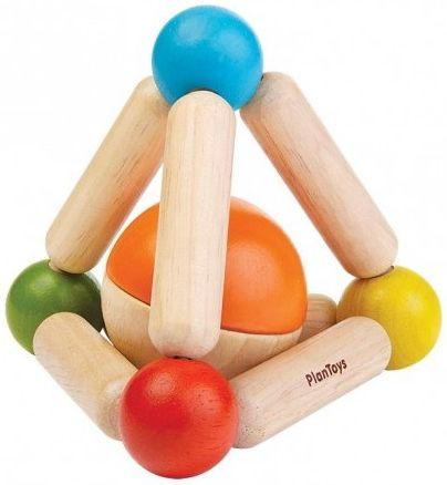 Plan Toys Drewniana grzechotka – Triangle