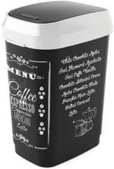 Kis Kôš Dual Swing Bin Coffee menu 25 l