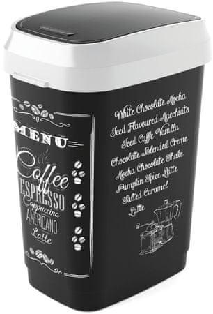 Kis koš za odpadke Dual Swing Coffee Menu, 25 l