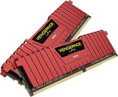 Corsair pomnilnik (RAM) VENGEANCE LPX 16GB (2x8GB), DDR4, DIMM, 2666 MHz, CL16, rdeč (CORME-16GB_DDR4-266R)