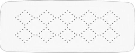 Spirella Bezpečnostní podložka ALASKA white 71x36 cm