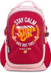 BAAGL Školský batoh s pončom Supergirl – STAY CALM