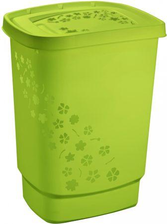 Rotho Szennyeskosár Flowers 55 l, zöld
