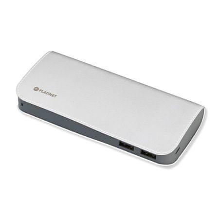 Platinet prijenosna baterija 11000mAh, kožna, bijela