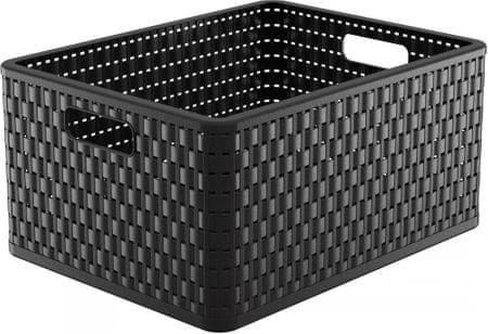 Rotho pudełko Country, 28 l, czarne