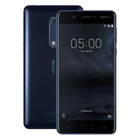 Nokia 5, žíhaná - modrá
