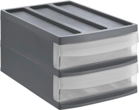 Rotho škatla za shranjevanje Systemix Duo, M, črna