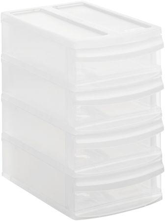 Rotho Tárolódoboz Systemix Tower XS, fehér