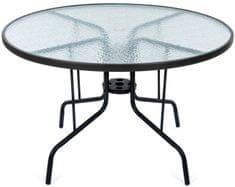 MAKERS SAVONA záhradný stôl okrúhly, číry