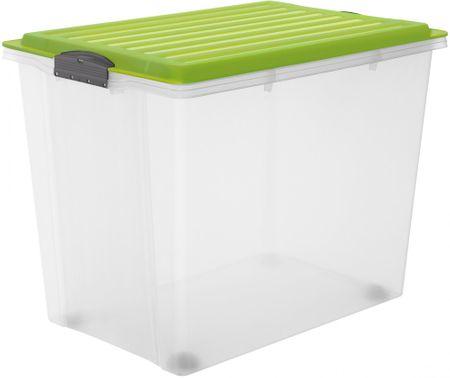 Rotho Tárolódoboz Compact 70 l, zöld
