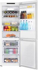 SAMSUNG RB33J3015WW/EF Kombinált hűtőszekrény, 328 L, A++ + 10 éves garancia a kompresszorra
