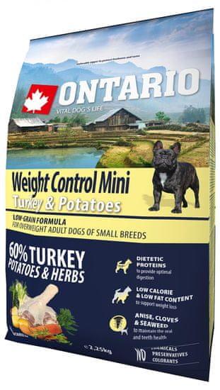 Ontario Mini Weight Control Turkey & Potatoes 2,25kg