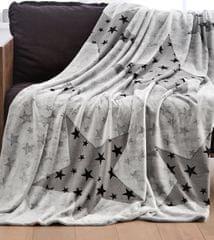 s.Oliver koc w gwiazdy, 150x200 cm, szary