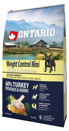 Ontario Mini Weight Control Turkey & Potatoes 6,5kg