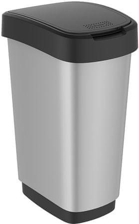 Rotho Szemeteskosár Twist 25 l, silver
