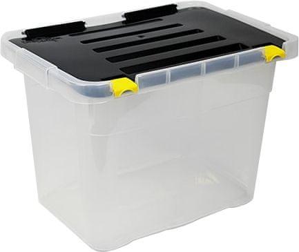 Heidrun Dragon tároló doboz 18 l, fekete