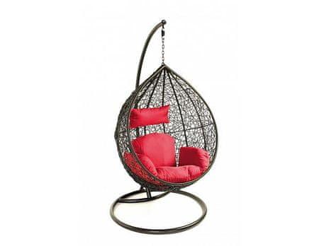 Závěsné relaxační křeslo TARA červený sedák