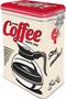 1 - Postershop Plechová dóza s klipom Strong Coffee Served Here