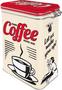 2 - Postershop Plechová dóza s klipom Strong Coffee Served Here