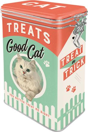 Postershop pločevinasta posoda za zapiralom Good Cat Treats