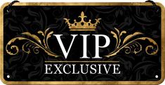 Postershop Závěsná cedule VIP Exclusive