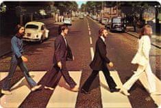 Postershop Plechová tabuľa Beatles Abbey Road