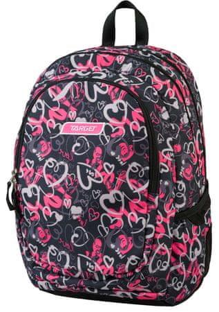 Target nahrbtnik 3 Zip Allover Heartbeat 21441