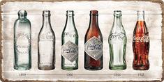 Postershop Plechová tabuľa Coca-Coca fľaše