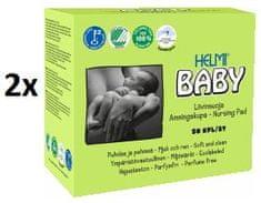 HELMI BABY BIO prsní vložky, 2x50 ks