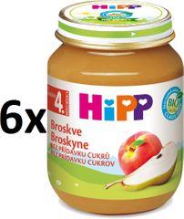 HiPP BIO Broskyne - 6 x 125g