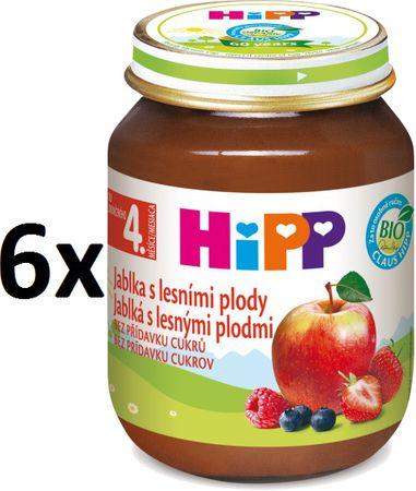 HiPP BIO Jablká s lesnými plodmi - 6 x 125g