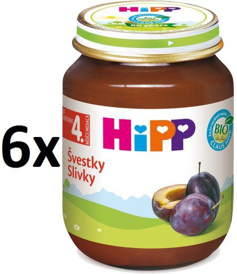 HiPP BIO Švestky - 6 x 125g
