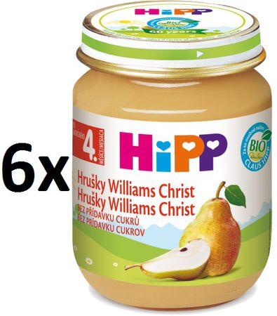 HiPP BIO Hrušky Williams-Christ - 6 x 125g