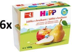 HiPP BIO Jablká s hruškami - 6x(4x100g)
